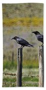 Neighborhood Watch Crows Bath Towel