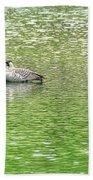 Nene On Green Pond Bath Towel