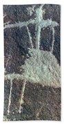 Neolithic Petroglyph Bath Towel