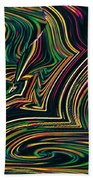 Neon Night Life Bath Towel