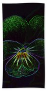 Neon Pansy Bath Towel