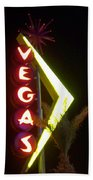 Neon Signs 2 Bath Towel