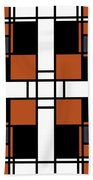Neoplasticism Symmetrical Pattern In Tijuna Gamboge Bath Towel
