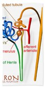 Nephron Labels #1 Bath Towel by Russell Kightley