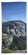 Nevada And Vernal Falls From Near Grizzly Peak - Yosemite Valley Bath Towel