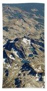 Nevada Mountain Terrain Aerial Lakes Bath Towel
