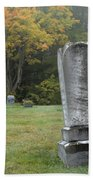 New England Graveyard During The Autumn  Bath Towel