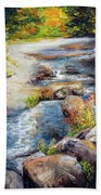 New Hampshire Creek In Fall Hand Towel