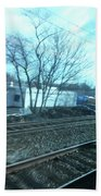 New Jersey From The Train 4 Hand Towel
