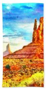 New Mexico Beautiful Desert - Pa Bath Towel