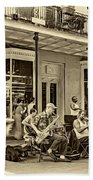 New Orleans Jazz 2 - Sepia Bath Towel