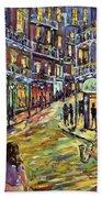 New Orleans Jazz Night By Prankearts Fine Art Bath Towel