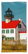 New Paint On East Point Lighthouse Bath Towel