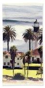 New Point Loma Lighthouse Bath Towel