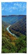 New River Gorge - Autumn Bath Towel