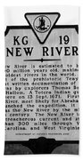 New River Historical Marker Bath Towel