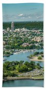 New Rochelle From The Long Island Sound Bath Towel