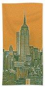 New Tork City Ny Travel Poster 4 Hand Towel