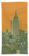 New Tork City Ny Travel Poster 4 Bath Towel