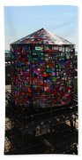 Stained Glass Water Tower In Milwaukee Bath Towel