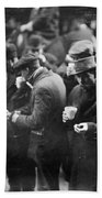 New York: Bread Line, 1915 Bath Towel