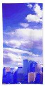 New York City Skyline With Freedom Tower Bath Towel