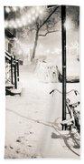 New York City - Snow Hand Towel by Vivienne Gucwa