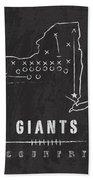 New York Giants Art - Nfl Football Wall Print Bath Towel by Damon Gray