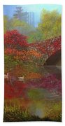 New York In Fall Hand Towel