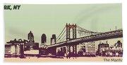New York Manhattan Bridge Bath Towel