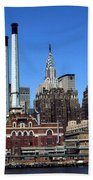 New York Mid Manhattan Skyline Bath Towel