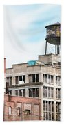 New York Water Towers 18 - Greenpoint Water Tower Bath Towel by Gary Heller