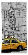 New York Yellow Cab Bath Towel