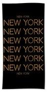 New York No 3  Bath Towel