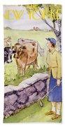 New Yorker June 11 1955 Bath Sheet
