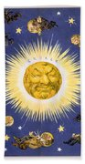 New York's New Solar System Vintage Poster 1898 Bath Towel