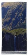 New Zealand Stirling Falls In Hanging Valley Bath Towel