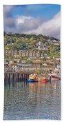 Newlyn Harbour Cornwall 2 Bath Towel