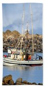 Newport Oregon - Coastal Fishing Bath Towel