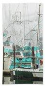 Newport, Oregon Fishing Fleet Bath Towel