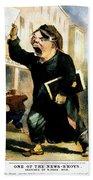 Newsboy Shouting, 1847 Hand Towel