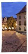 Night In City Of Jelenia Gora In Poland Hand Towel