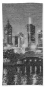 Night Landscape In Melbourne Bath Towel