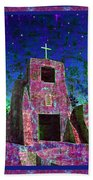 Night Magic San Miguel Mission Bath Towel