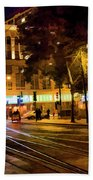 Night Moods San Jose Ca  Bath Towel