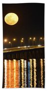 Multi Reflective Bridge And Moon Lights Bath Towel