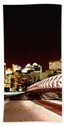 Night Shots Calgary Alberta Canada Bath Towel