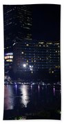 Night Skyline Of Jakarta Indonesia 4 Bath Towel