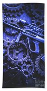 Night Watch Gears Bath Towel