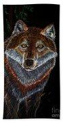 Night Wolf Hand Towel